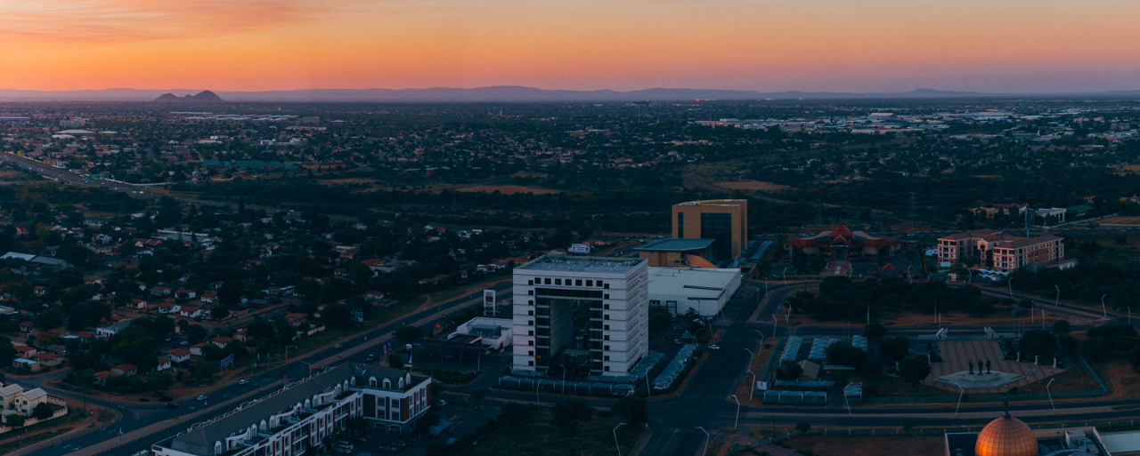 Gaborone is a small city that's still growing