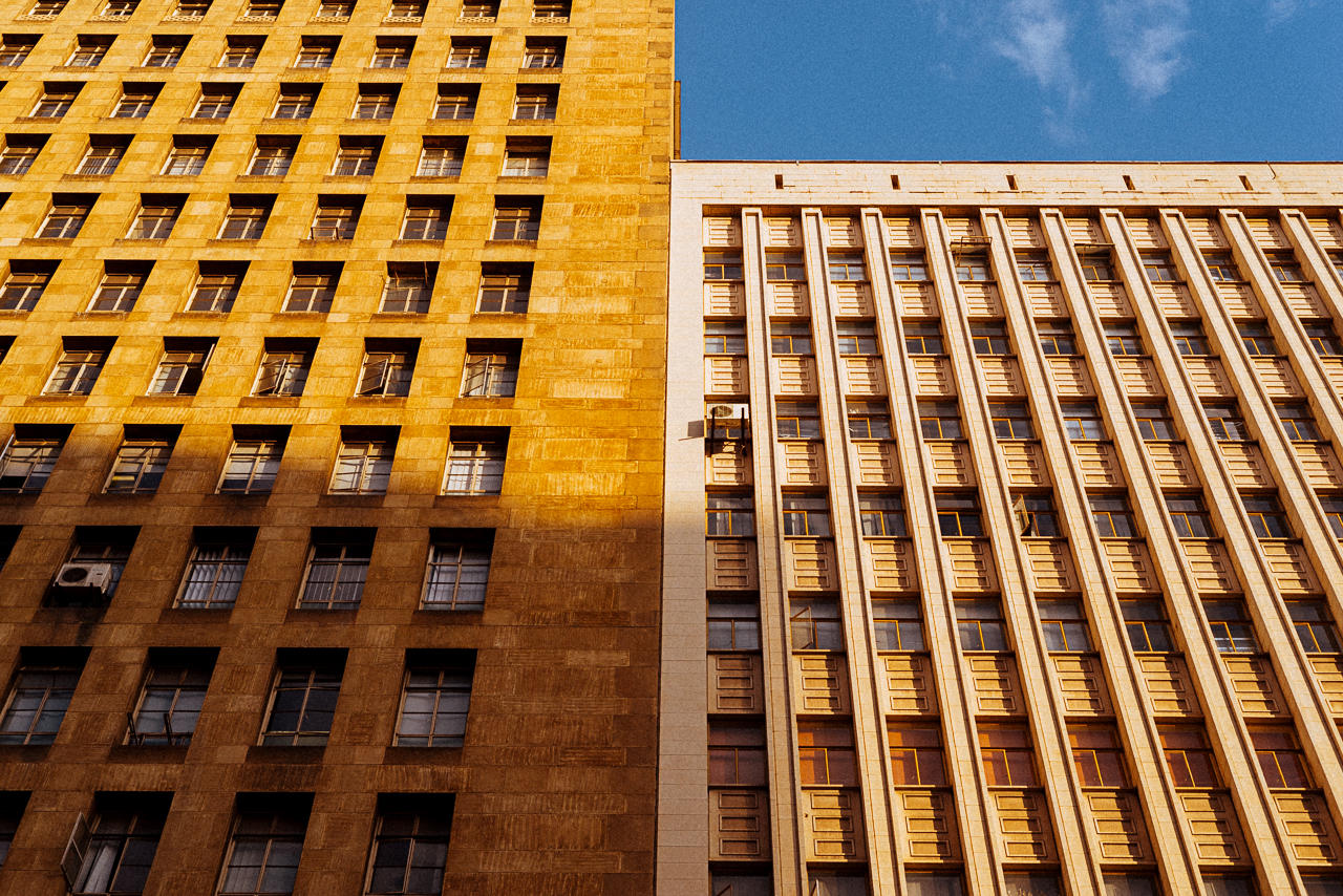 Different facades from different buildings that I found interesting in Harare