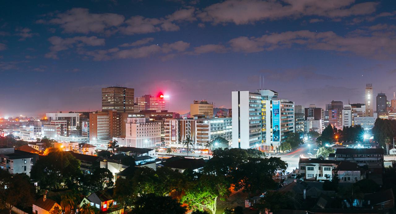 Aerial views of Harare
