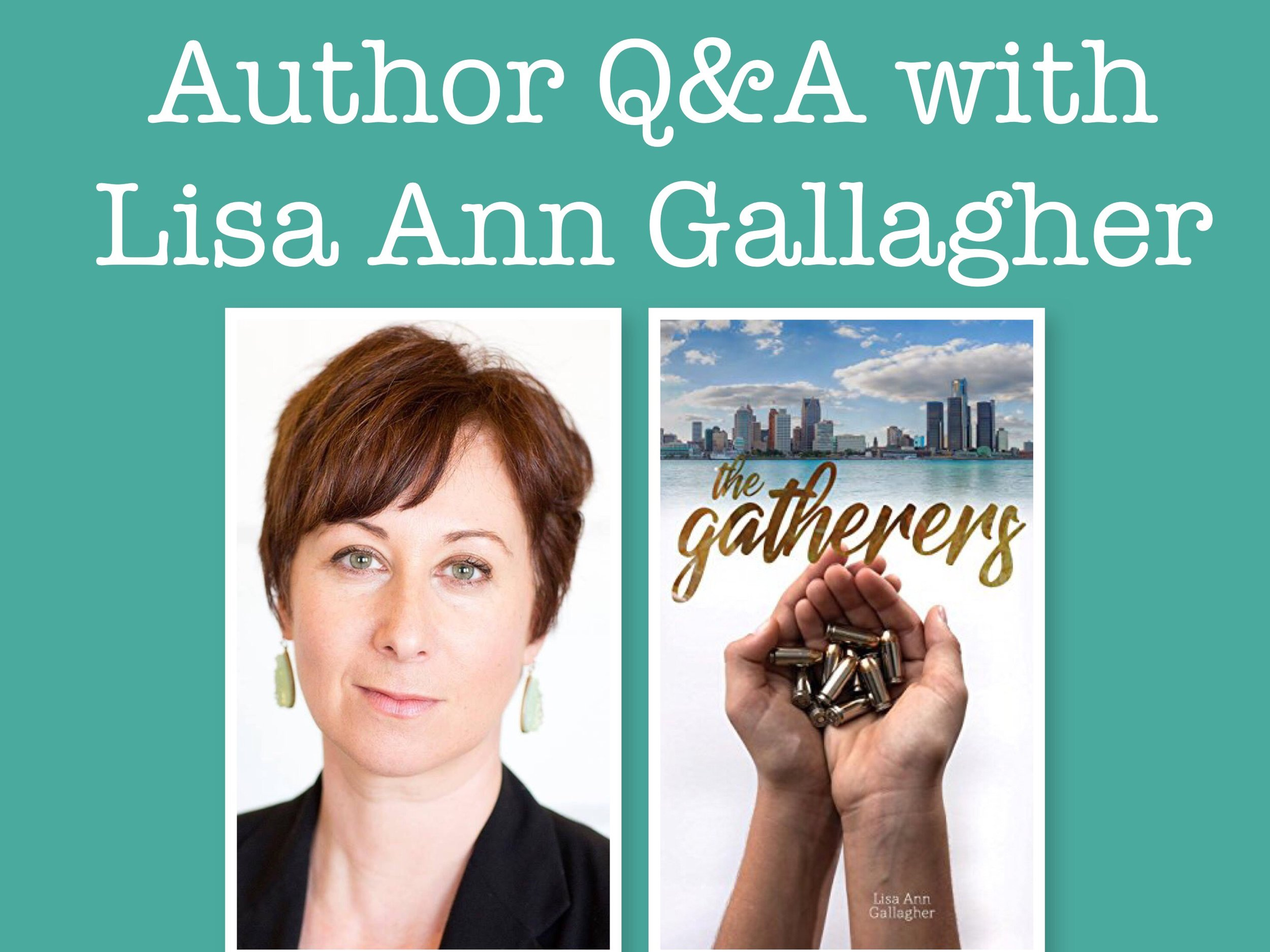 Q&A with Lisa Ann Gallagher August 15 on the blog.