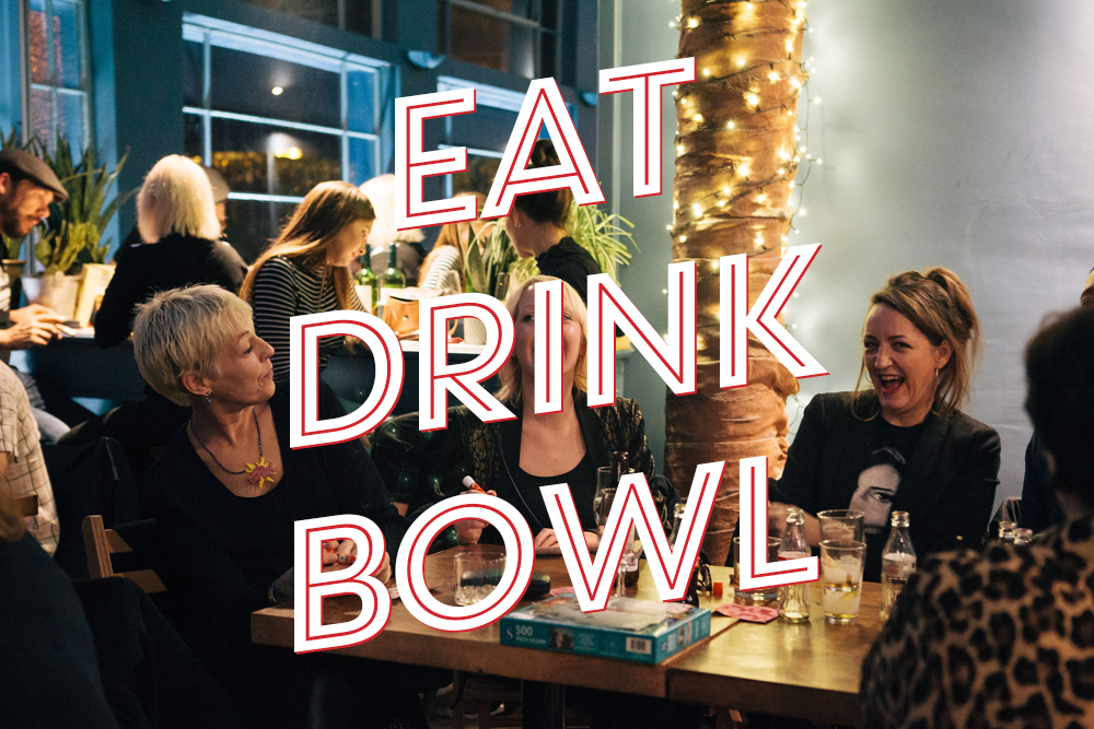 EAT, DRINK & BOWL / £27  / 1 Game of Bowling, Banquet Menu & Cocktail    Click here   to view our Banquet Menu    BOOK NOW