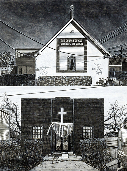 Two Churches in  the Ninth Ward, 2006