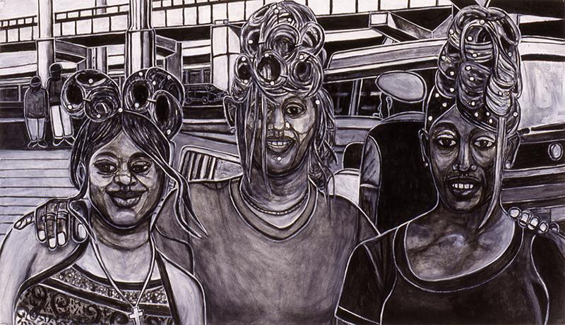 Three Females with Doos, 2000