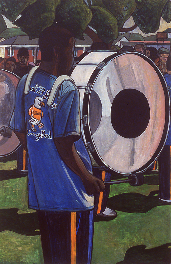 Young Man with  Bass Drum, 2000