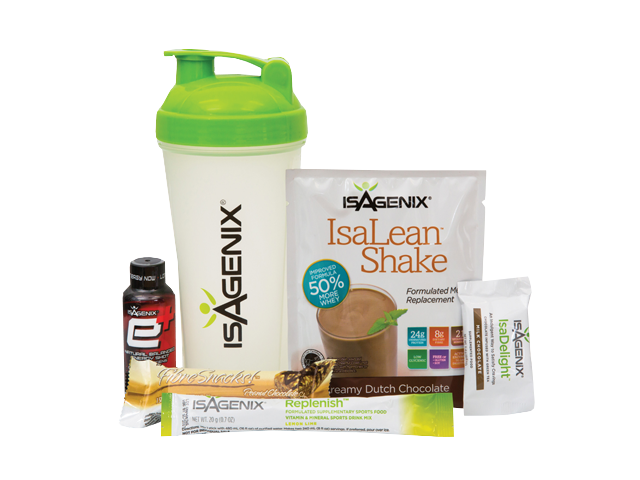 5-Piece Sample Pack  - Have you always wanted to try Isagenix, but weren't sure if you'd like it? This pack includes an IsaLean Bar, e+ Energy Shot, AMPED Hydrate, Isadelight, IsaLean Shake Packet