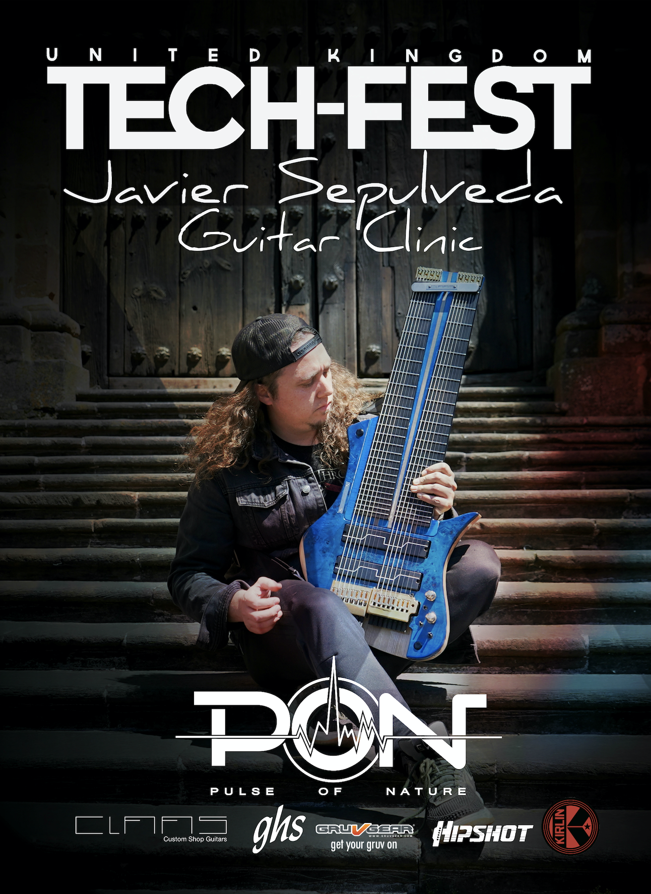 UNITED KINGDOMTECH FEST - JULY 4TH 2:00PMHonored to announce that I'll be doing my very first 16 string guitar workshop in the United Kingdom on July 4th at the TECH FEST in Newark! I'll share with you some of the techniques I have learned with my bro Felix Martin during all this time re discovering guitar, I'll explain some useful tips to create 8 fingers melodic chord tapping ideas, and interesting lines using chord interval structures, plus a few more things. Looking forward to make new friends in the UK 🇬🇧