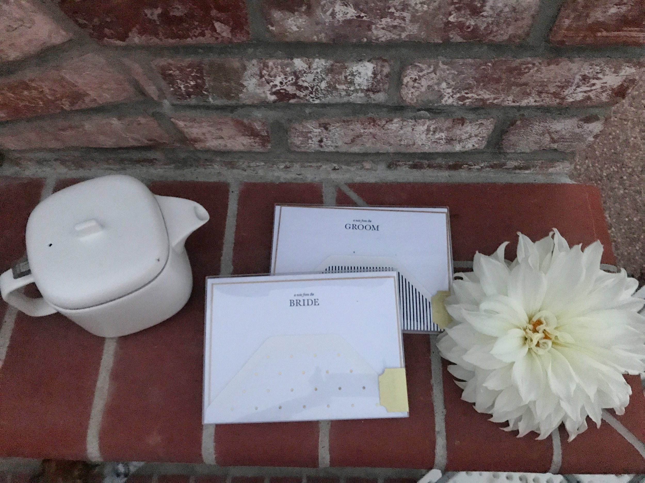 Gifts for the Day of the Wedding... - These notes~