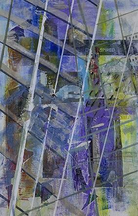 Windows on the World III, Mixed Media on Canvas