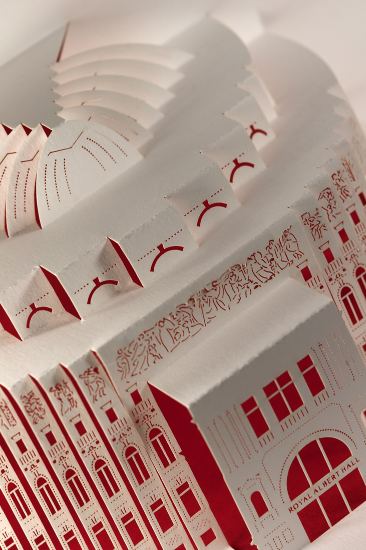 Detail of Royal Albert Hall facade