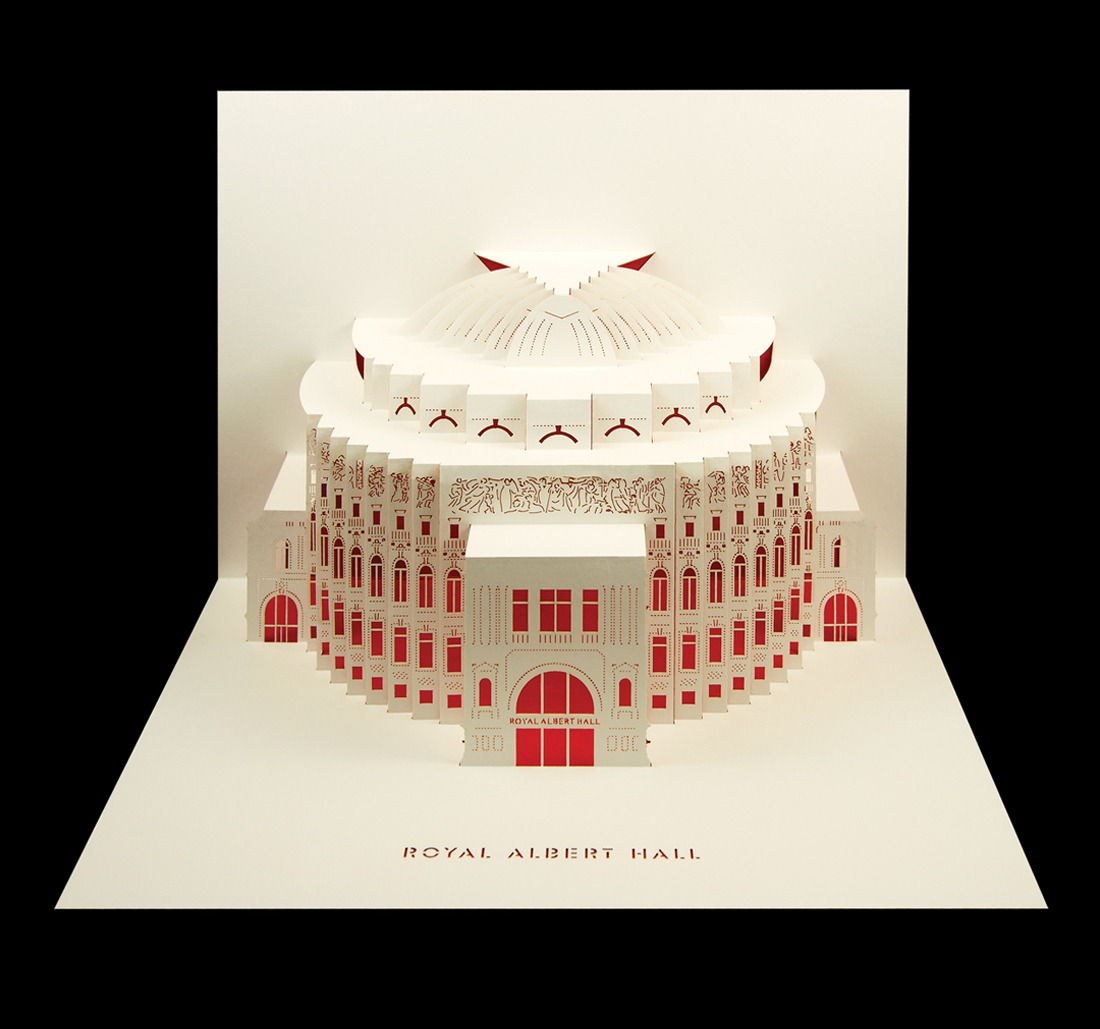 Royal Albert Hall - Merchandise retail pop-up cards