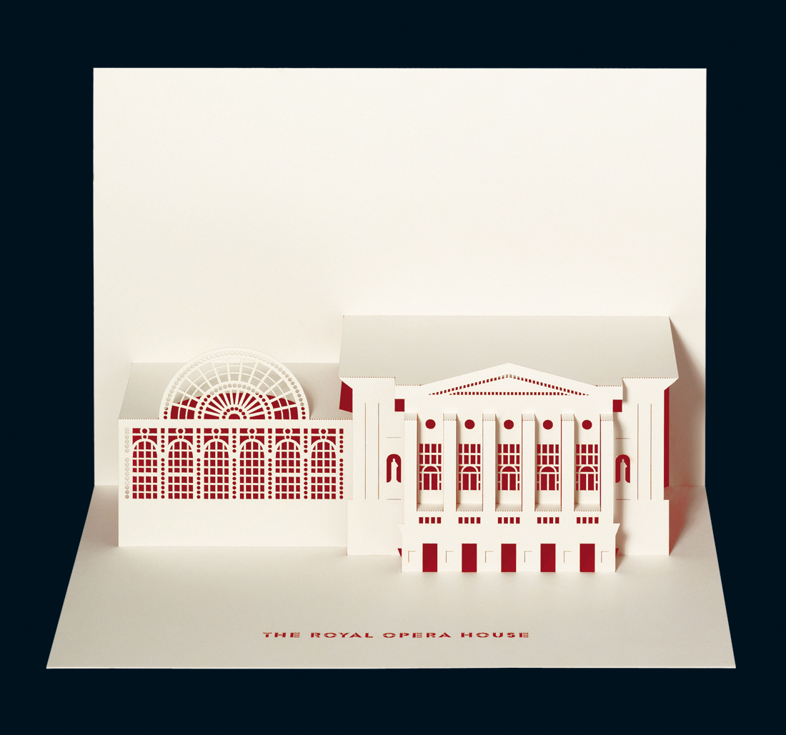 Royal Opera House - Merchandise retail pop-up card
