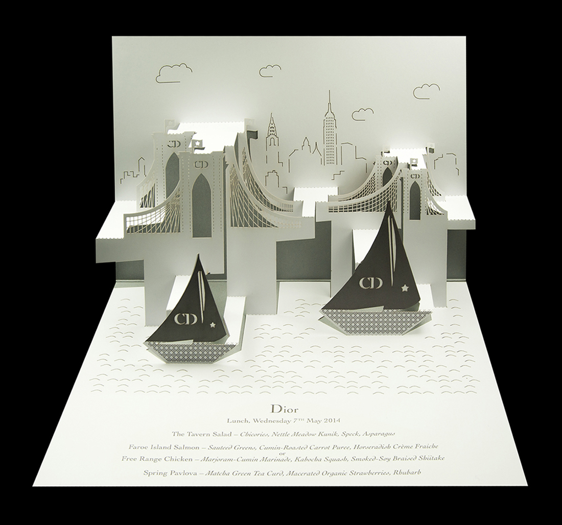 Dior - New York City Cruise Brooklyn Bridge pop-up menu