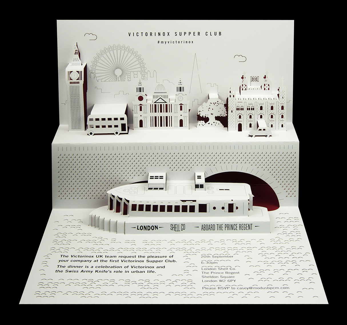 Victorinox - Supper Club pop-up invitation