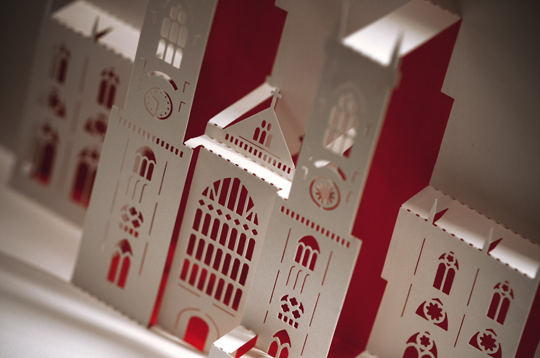 Spot the difference - ICONIC LANDMARKSREIMAGINED IN PAPER