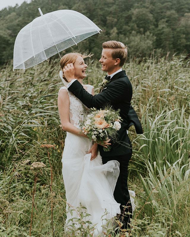 Still so excited from this rainy wet and wild beautiful wedding day ❤️ 52mm rain can't stop this kind of love 😅😍