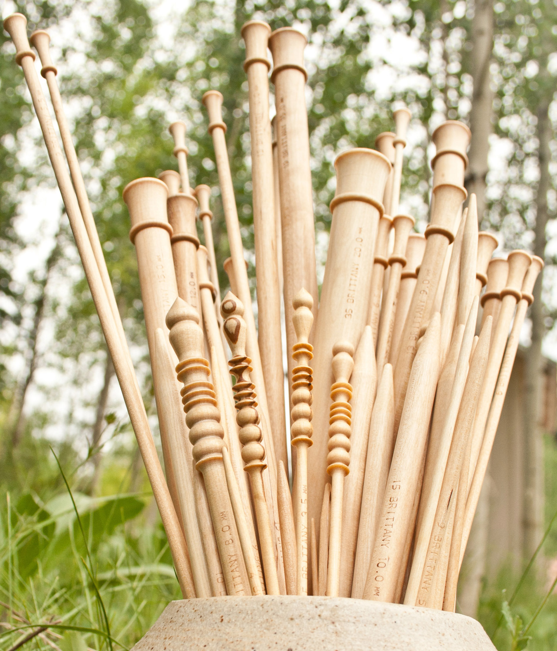 BRITTANY NEEDLES - We are proud to stock locally-made BRITTANY knitting needles and crochet hooks. Find out more about this local company HERE.