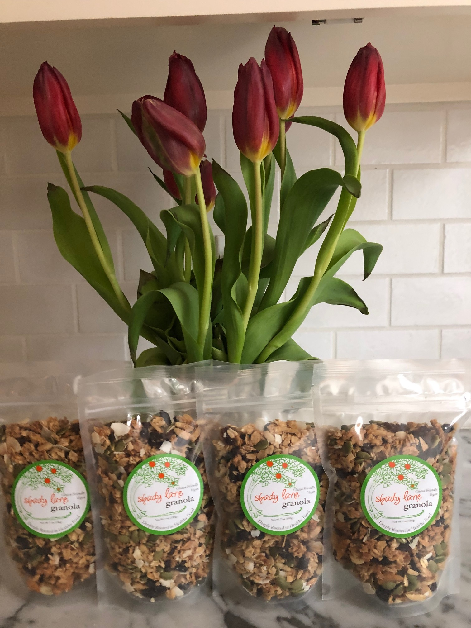 Find Shady Lane Granola… - …now at Dave's Market in East Greenwich and at the fabulous Johnson's Roadside Farm Market in Swansea!