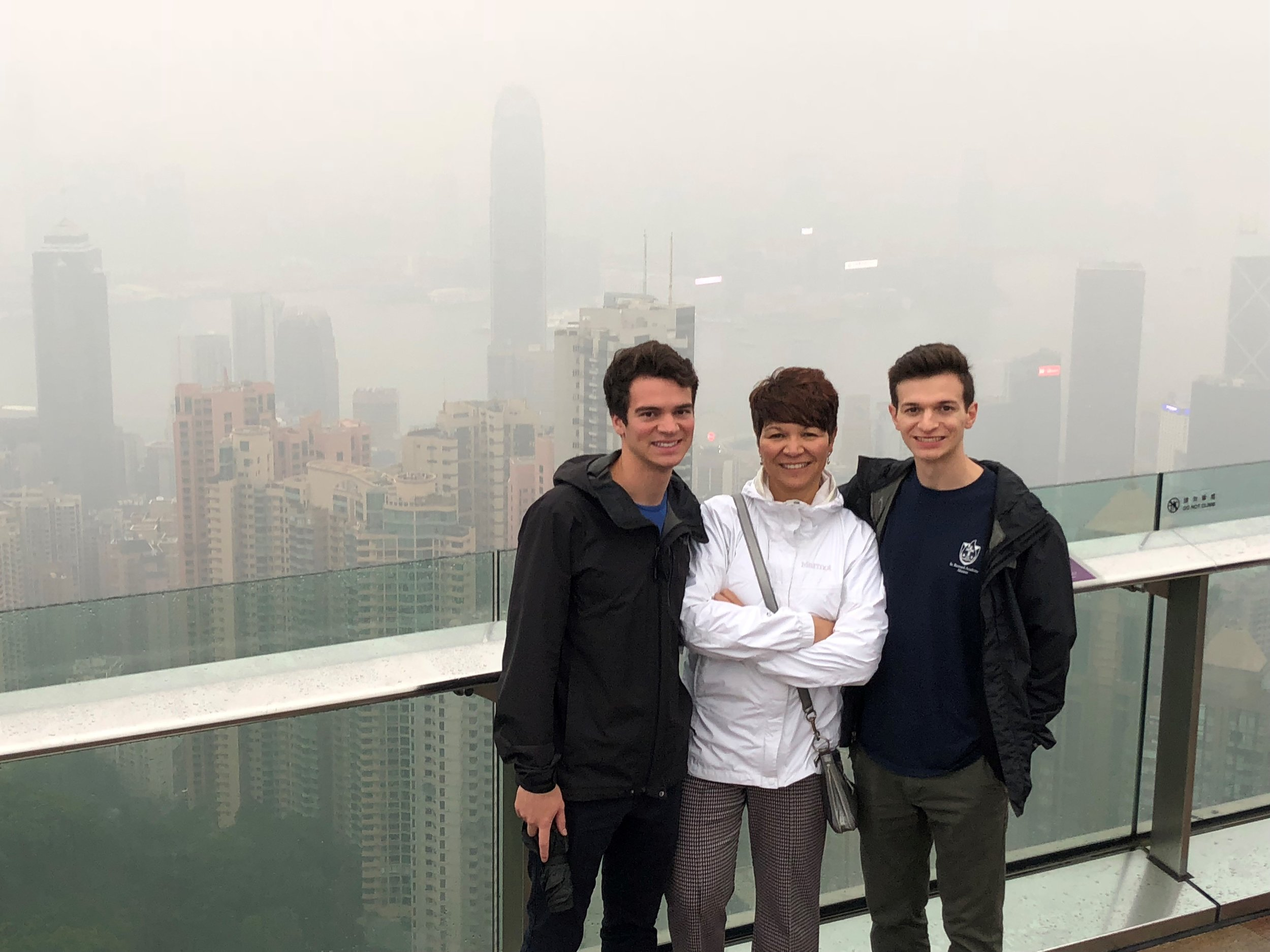 Mona, Nicolas & Anthony Tehle in Hong Kong.