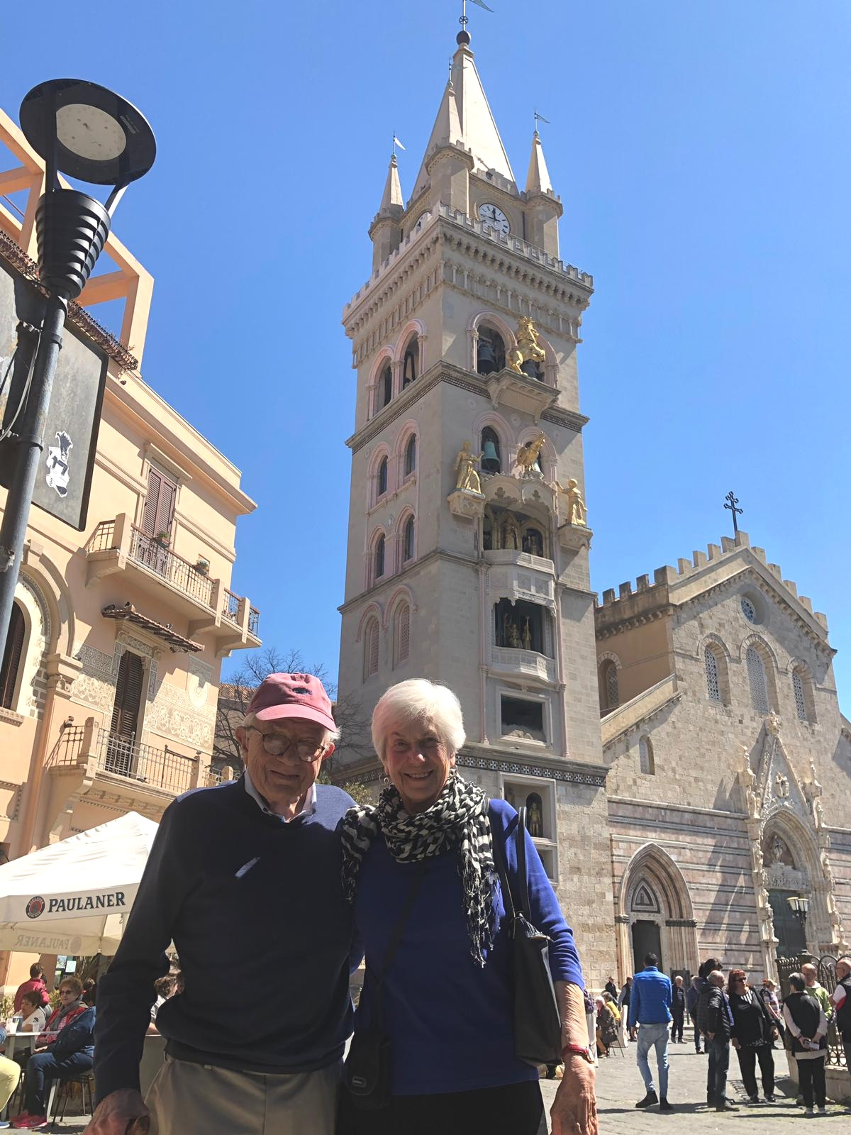 Gail & James Trimble in Sicily.