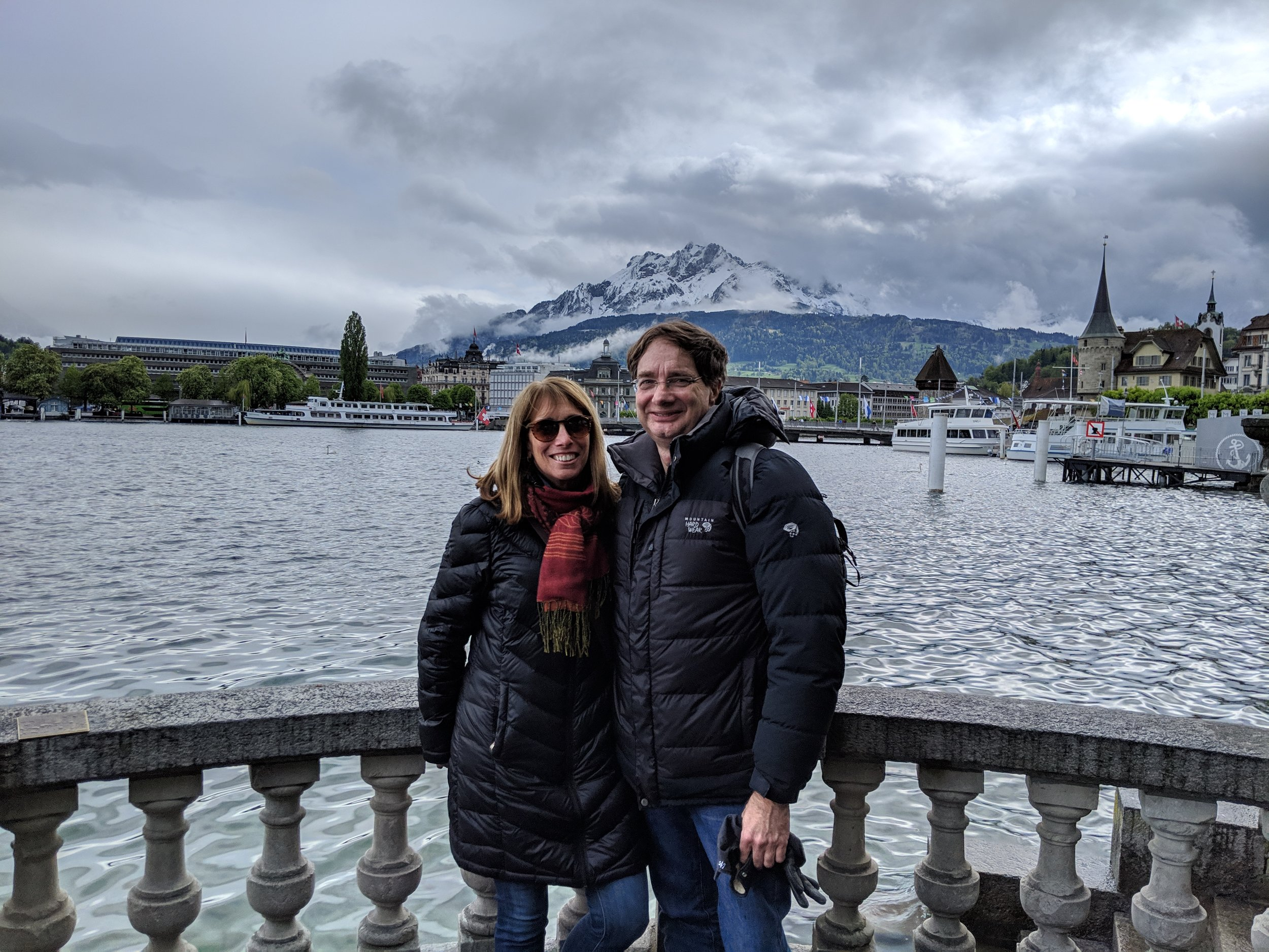 James Udell and Stephanie Deppe in Switzerland.