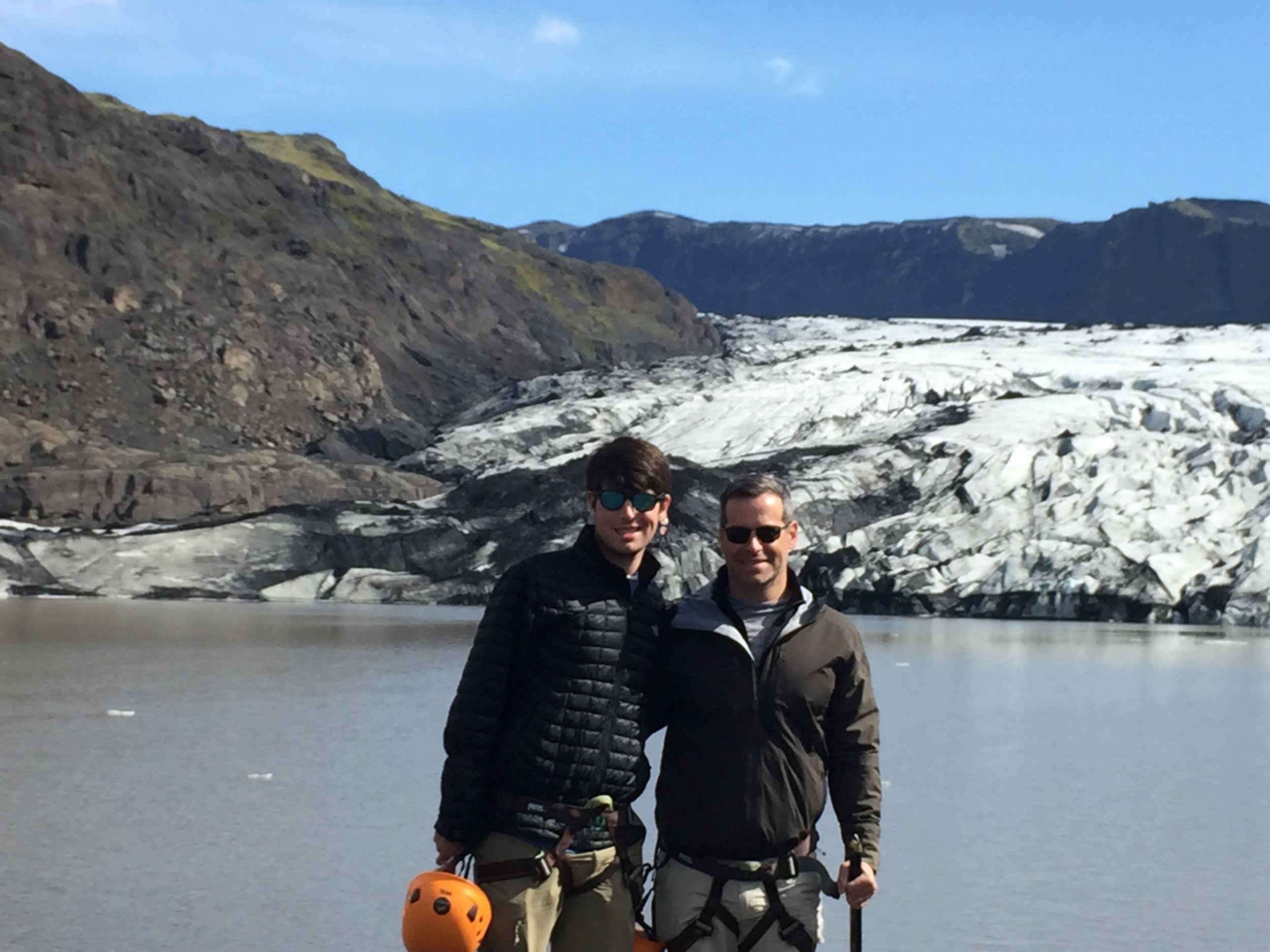 Noel and Ethan Strauss in Iceland.