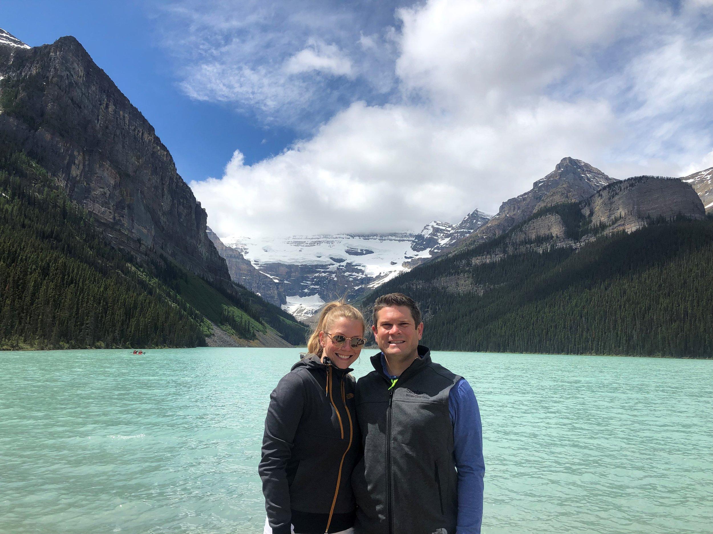 Beth & Charlie at Lake Louise.
