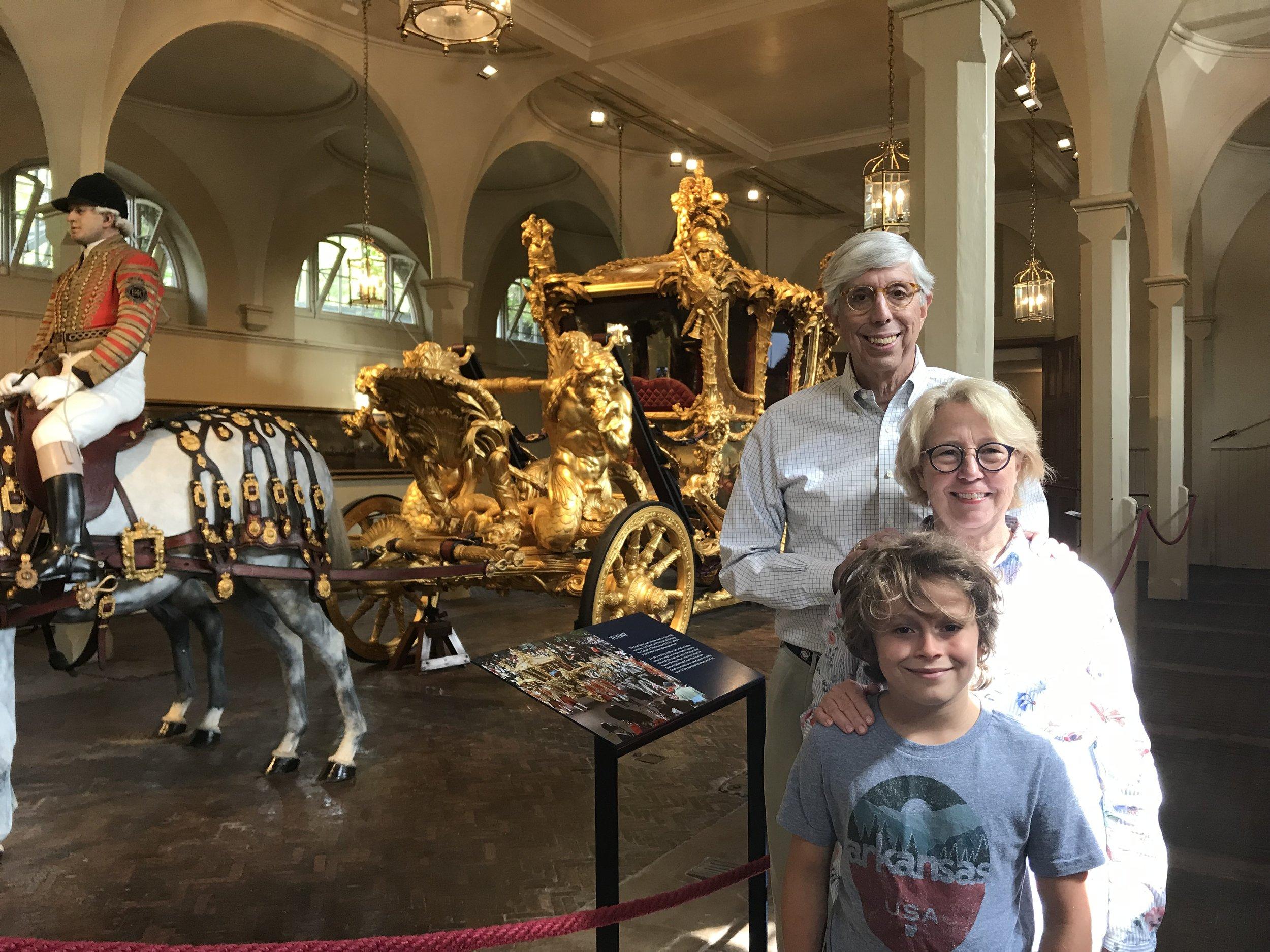 Rett & Becky Tucker with their grandson, Ellis, at Buckingham Palace.