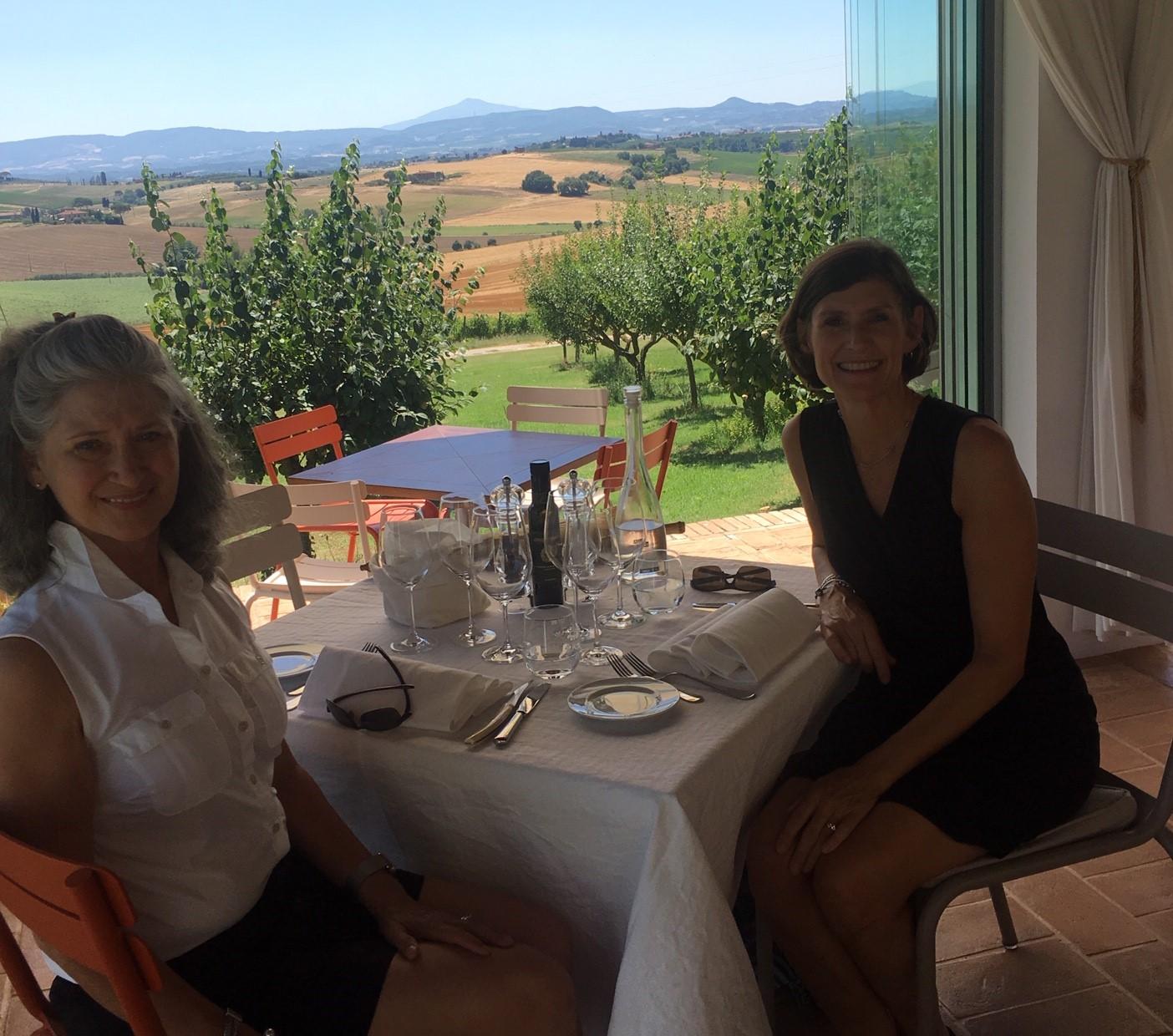 Debbie Bass & Laura Mehaffy in Tuscany.
