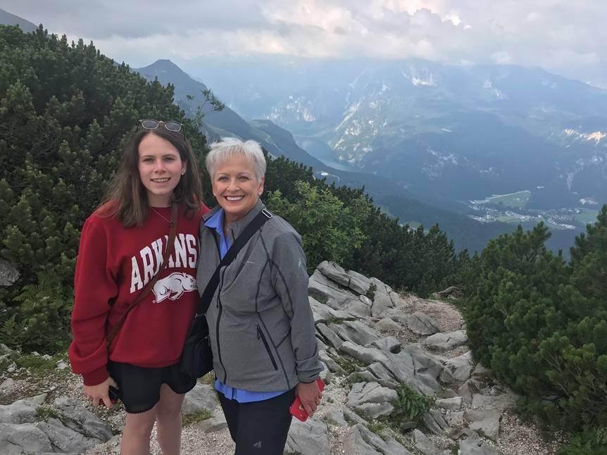 Linda Cope & her granddaughter Karli Boatright in Austria with Globus Tours.