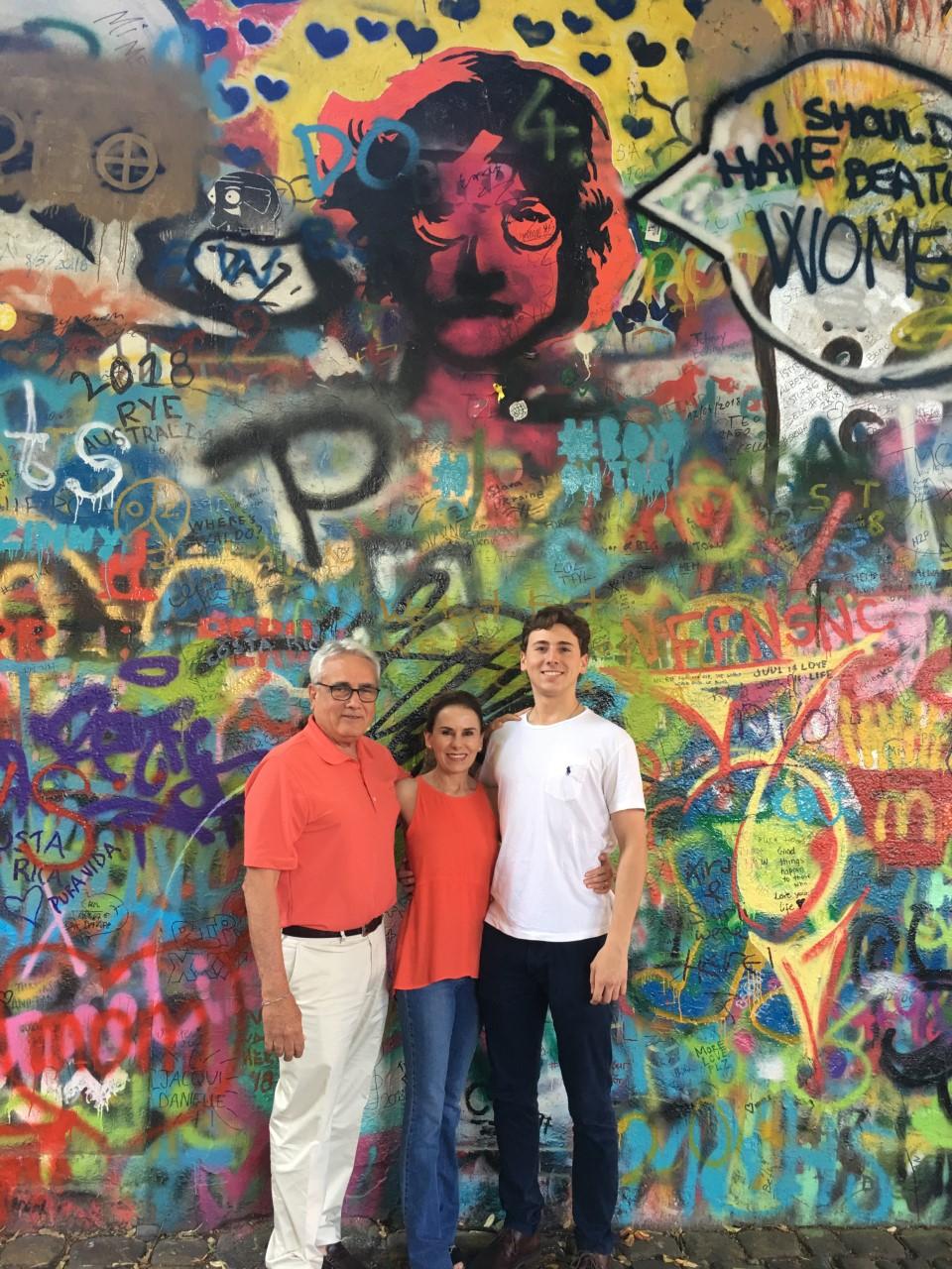 The Alegria family in Prague.