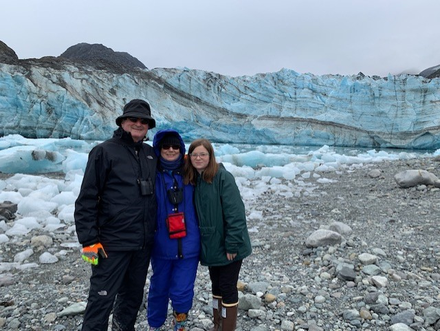 The Bartleys in Glacier Bay National Park with UnCruise.