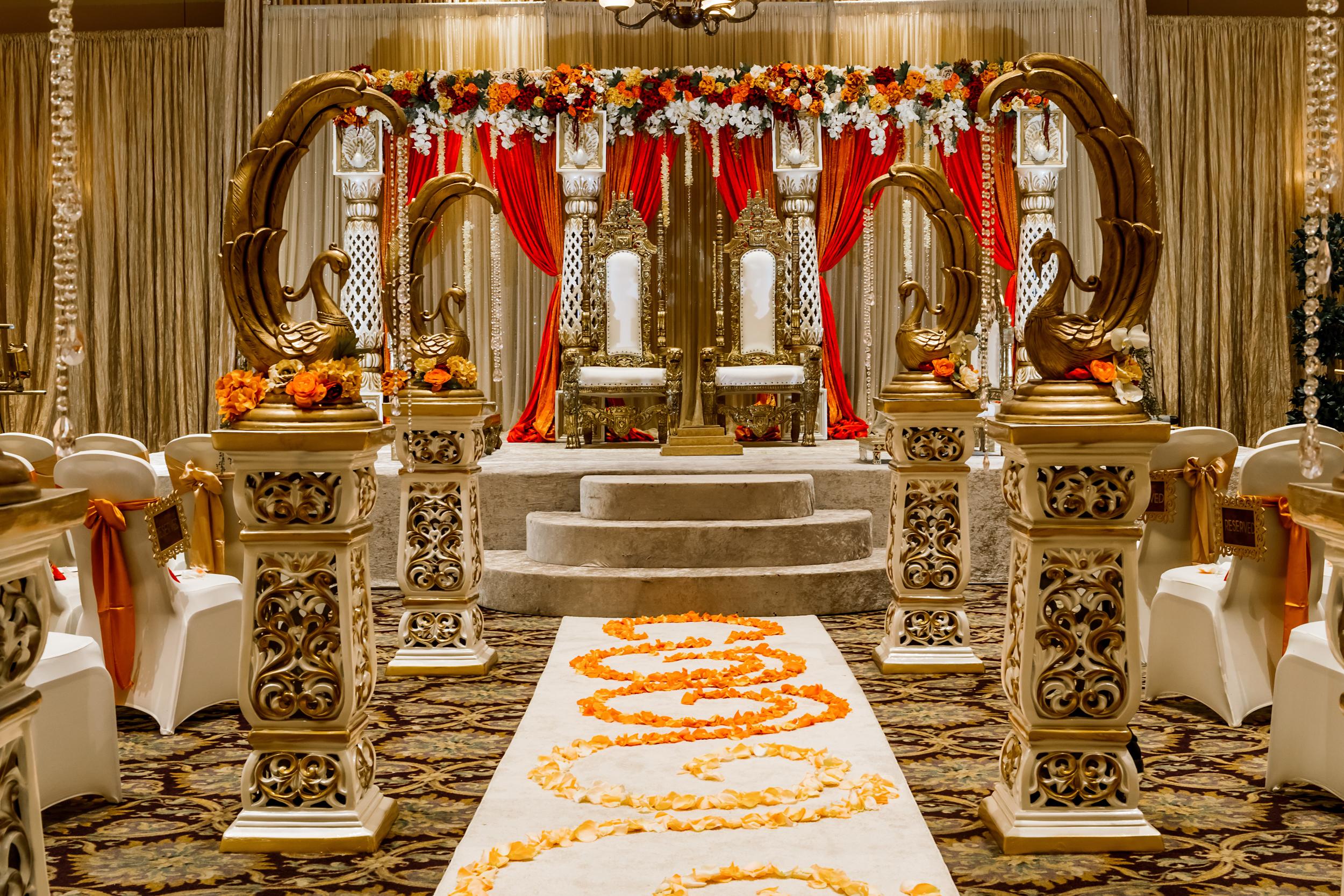 Holy Trinity Church Reception center indian wedding