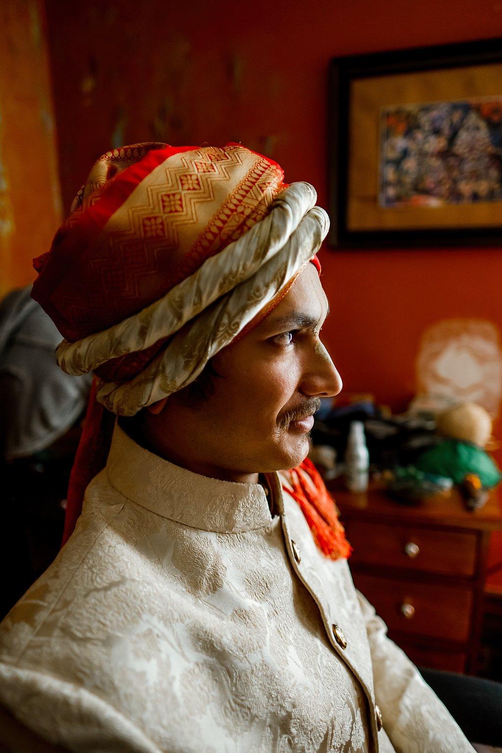 Indian turban groom
