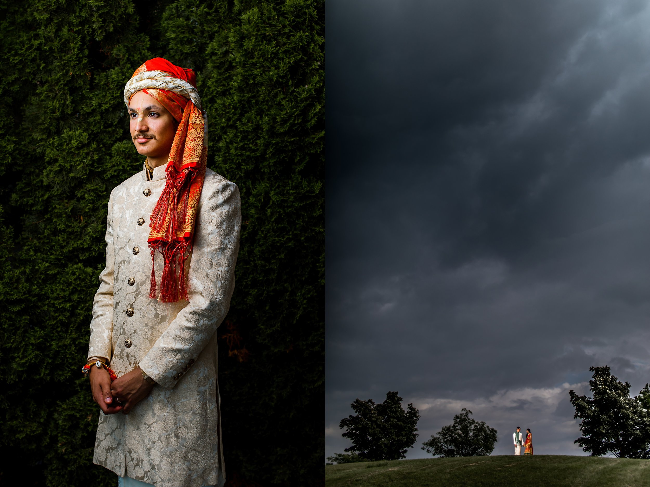 Dramatic indian wedding
