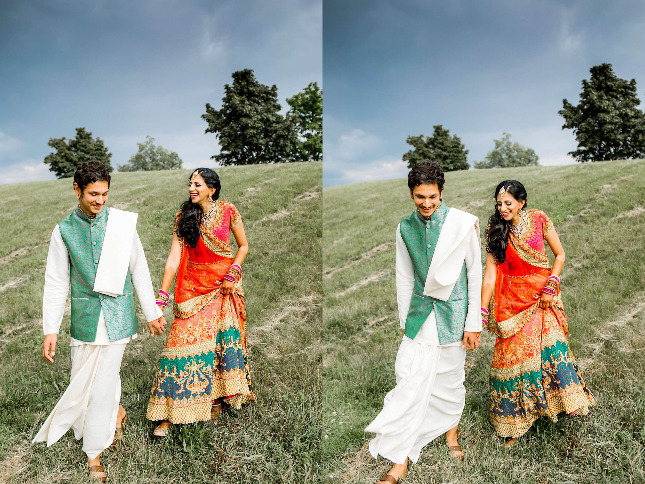 romantic Indian Engagement Session