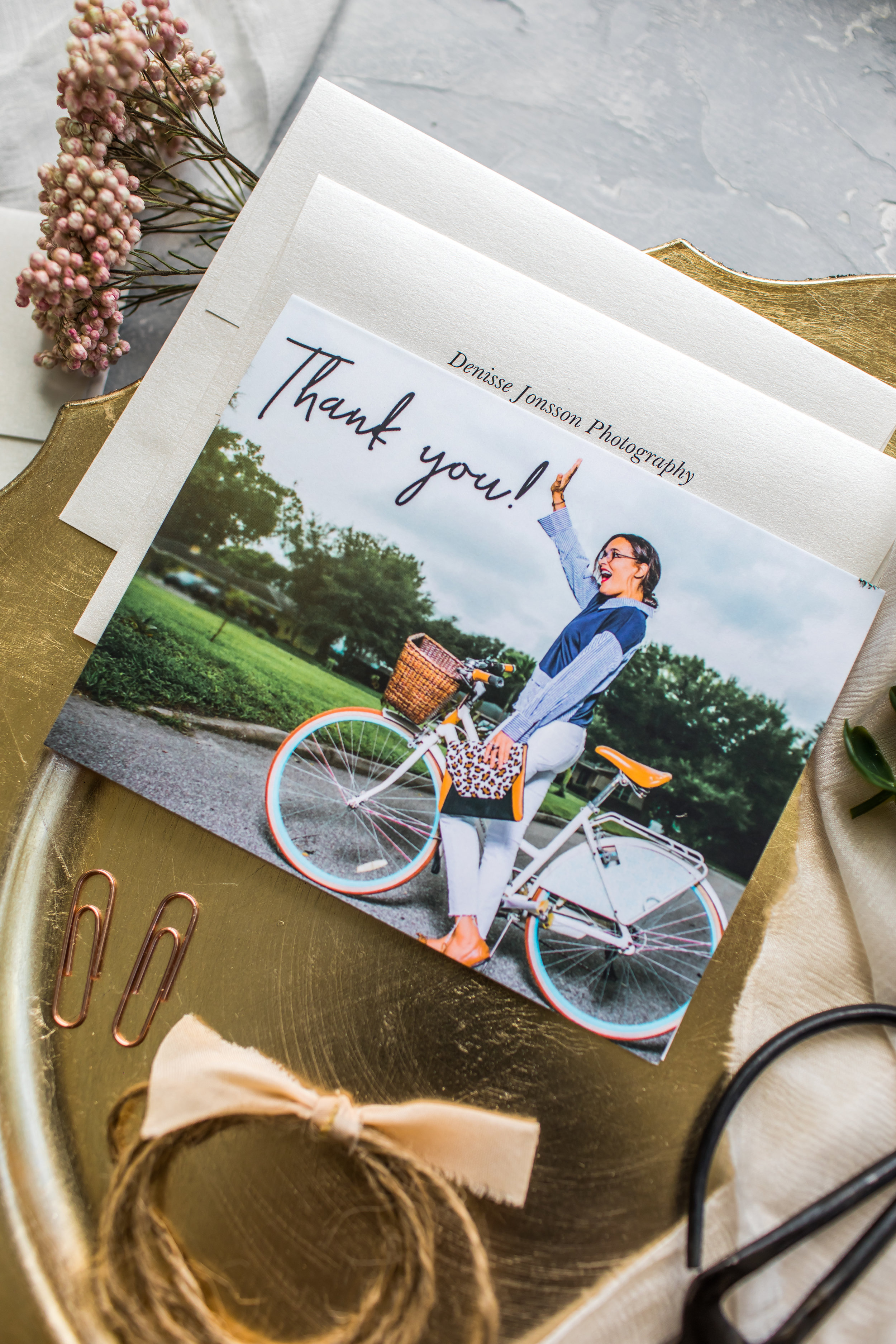 Beautiful Custom Thank You Cards for Entrepreneurs