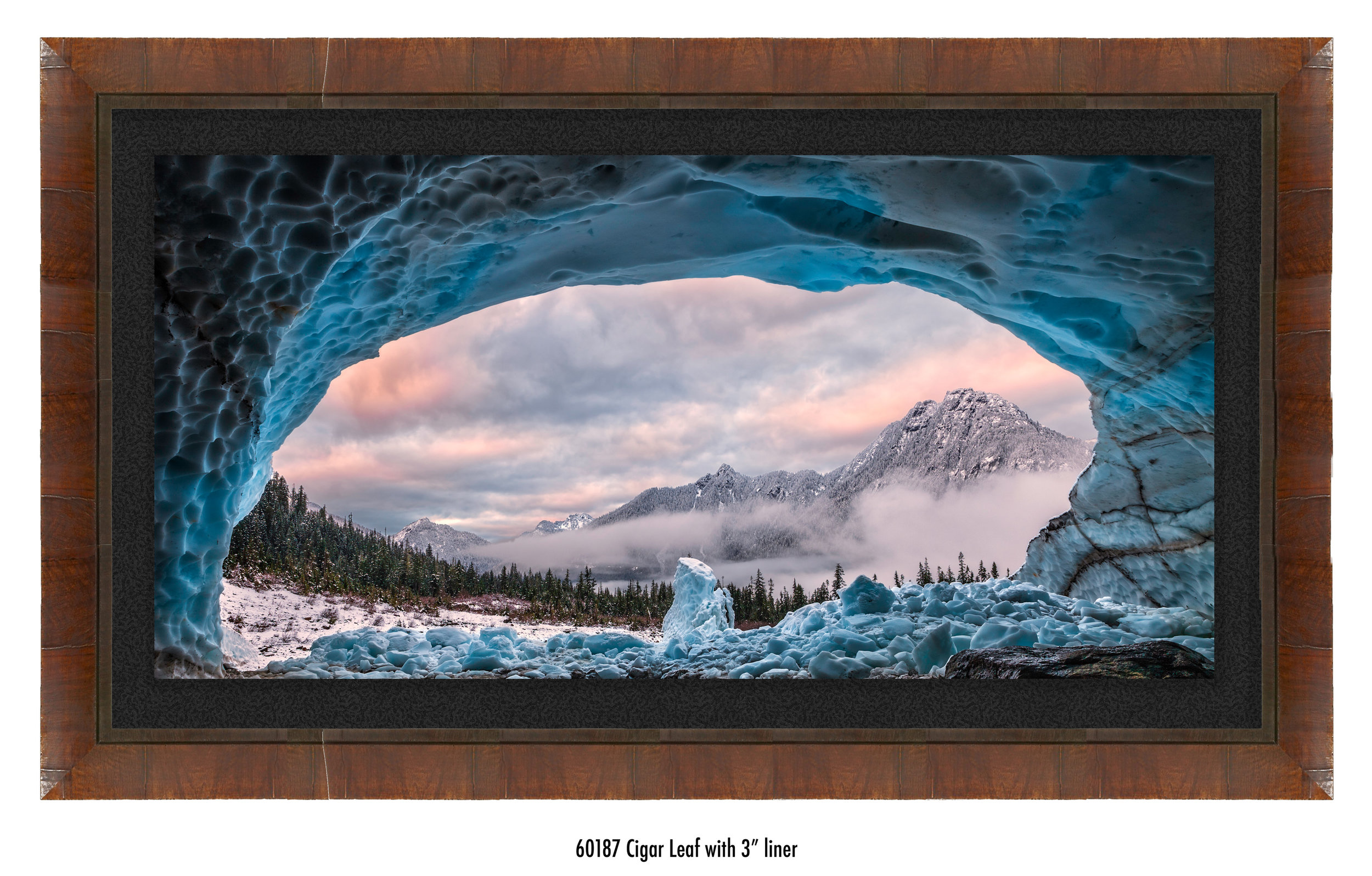 Ice Cave With A View in a frame