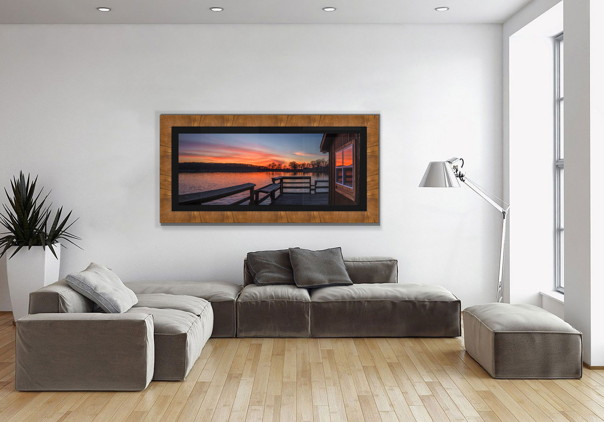 Lake Ahquabi hanging on the wall in a living room