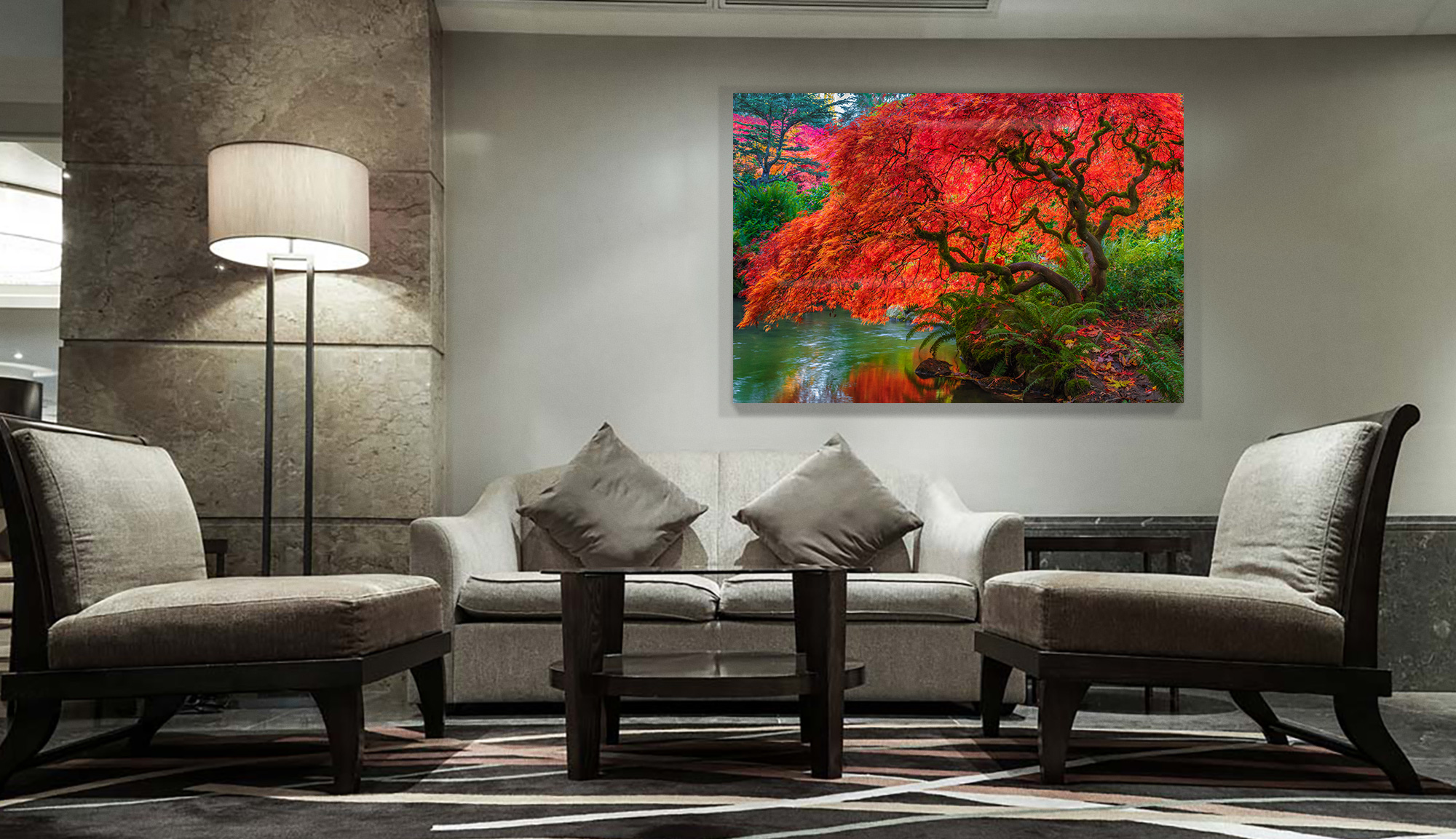 Tree Of Fire in a lobby space