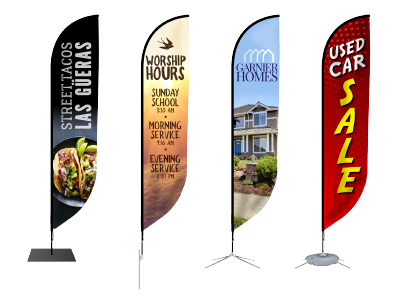 Feather Flags - Trade shows, events, and more with flexible feather banners and a variety of stand options.