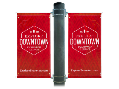 Pole Banners - Custom pole banners with pole pockets and a hardware kit perfect for advertising events and holidays.