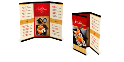 Brochures - Brochures are a popular format for sharing detailed information in a highly presentable way. They are usually colorful and folded, so they are an efficient format for providing information about your company, its products, and services.