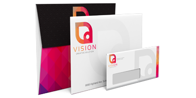 Envelopes - Available in many different sizes, Envelopes can send a variety of materials. We can print any image or text anywhere on the Envelope, so long as there is room for addressing and postage.