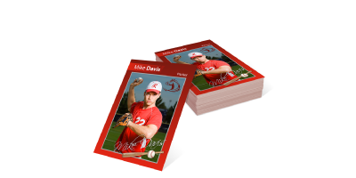 Trading Cards - Trading Cards are printed flat on 2.5