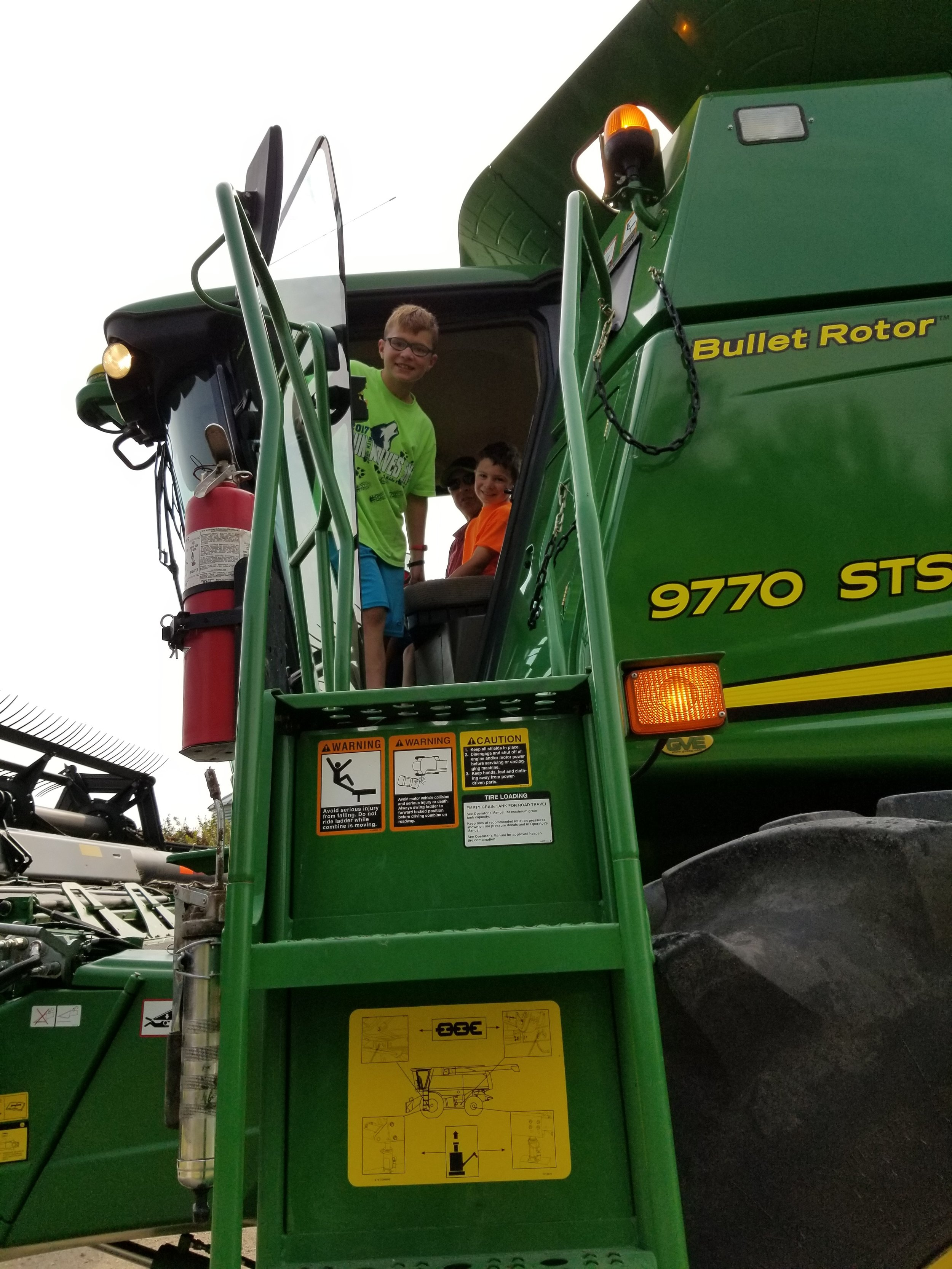 2 - Riding in a combine (and being able to tell their friends what a combine is)