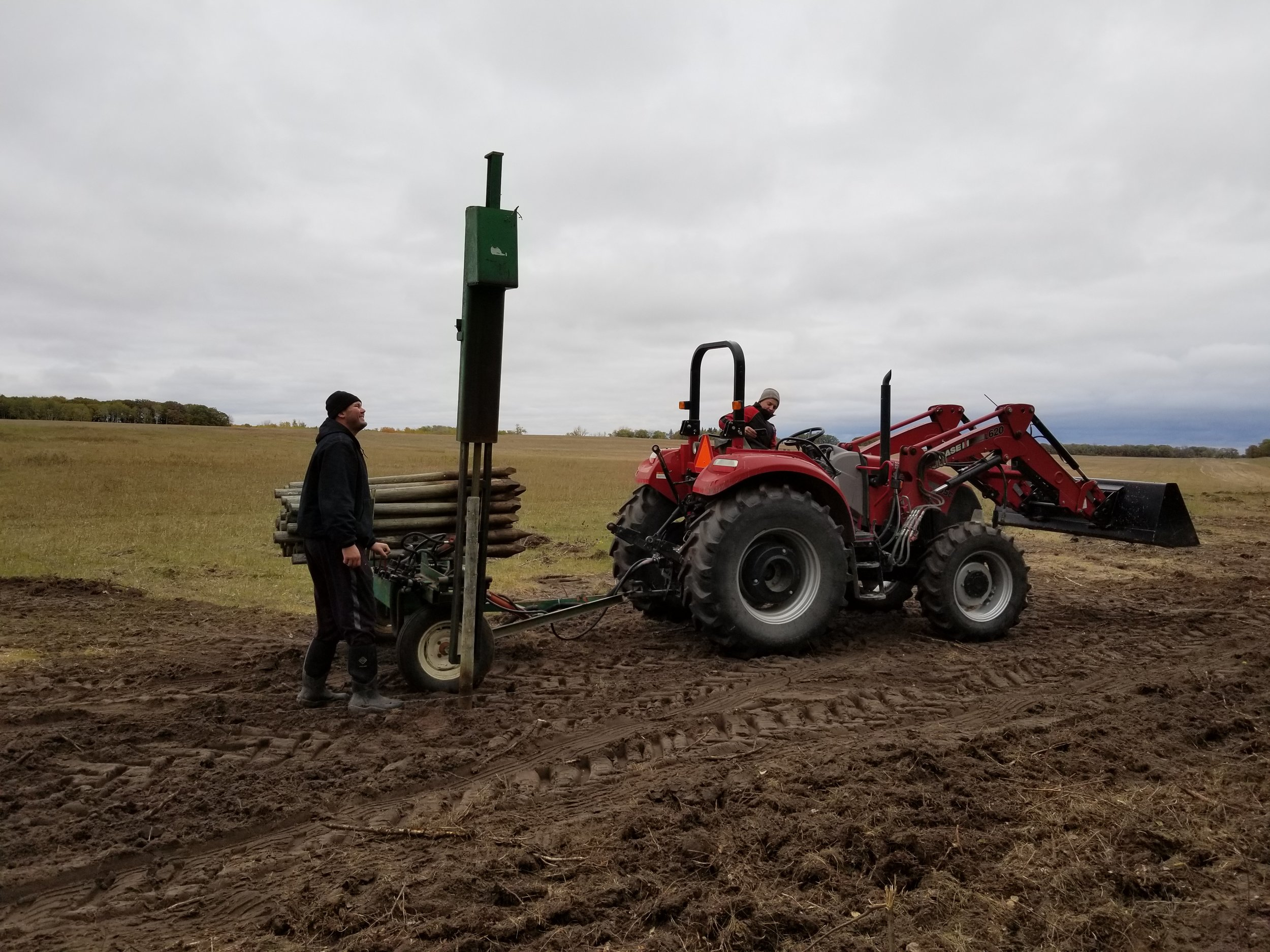 Building a new fence - post pounder
