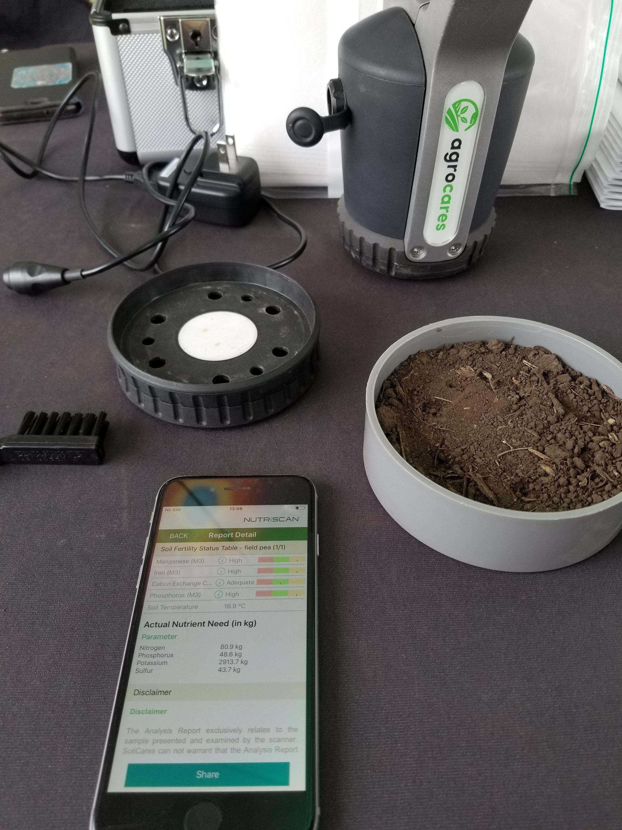 Portable soil testing