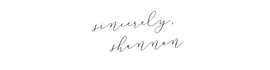 Sincerely, Shannon