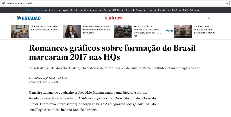 Estadão  São Paulo – 29/12/2017