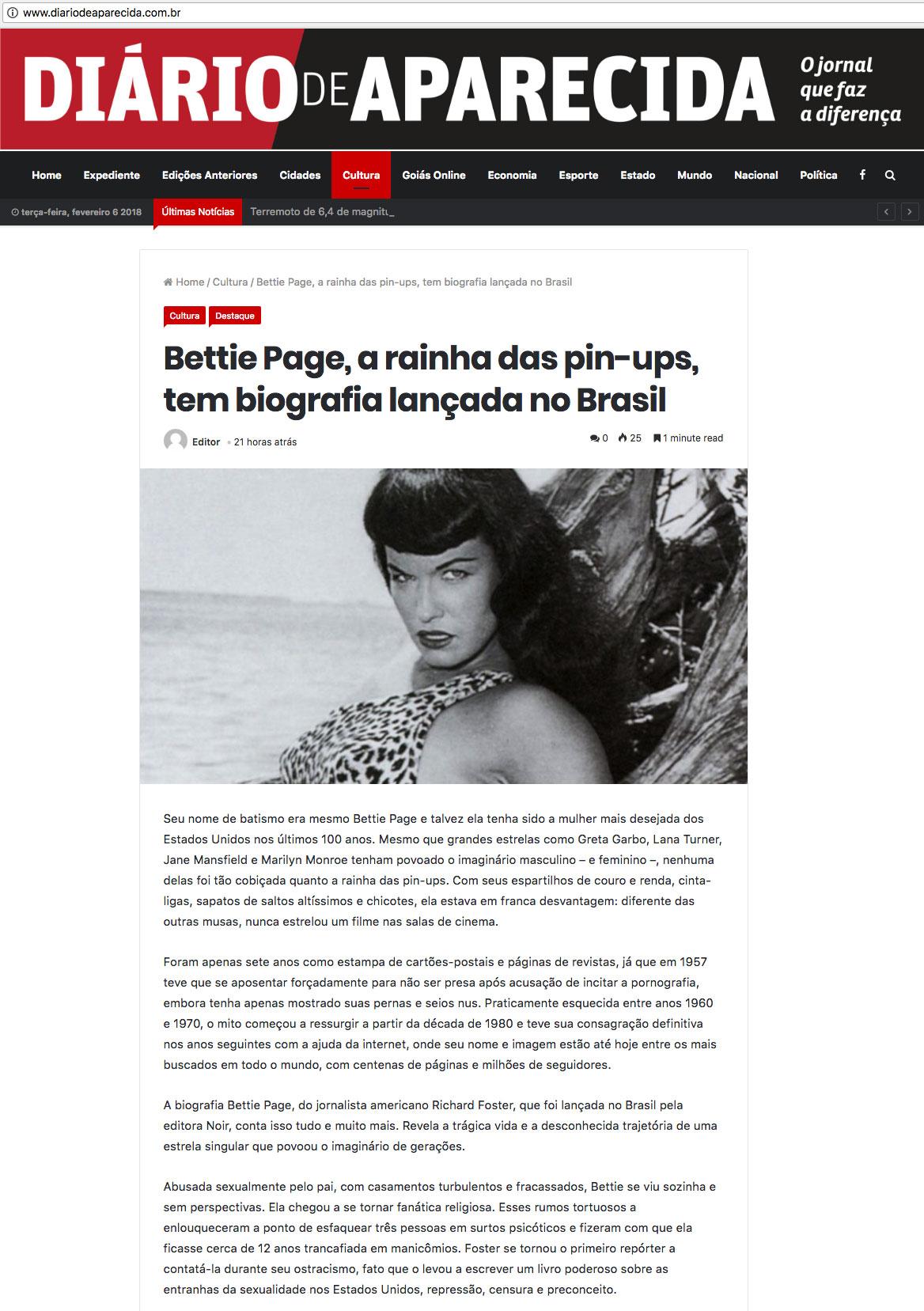 Diário de Aparecida  Aparecida de Goiânia – 5/2/2018